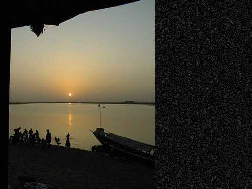 Sunset over the Bani River in Mopti.