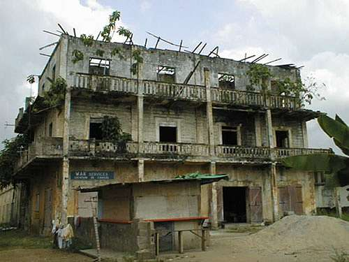 The old colonial homes of Grand-Bassam have been left to decay over the past 90 years as seen in this picture.